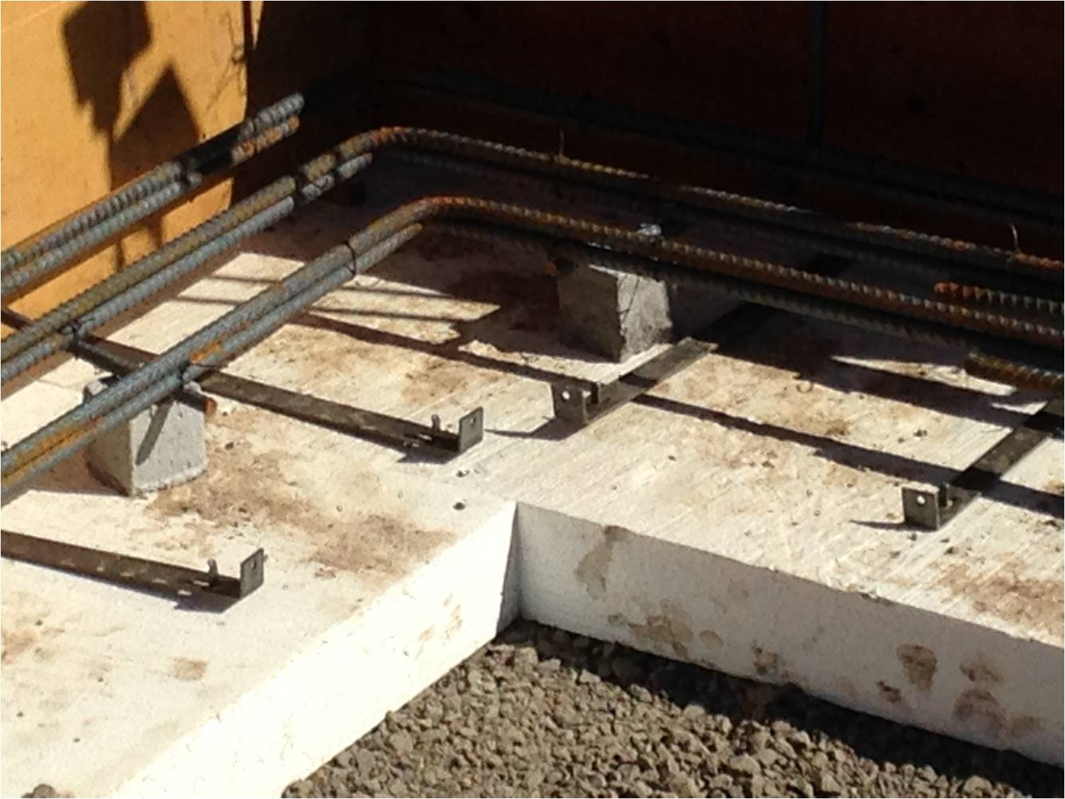02-15 foam formwork and rebar for perimeter footing (detail)
