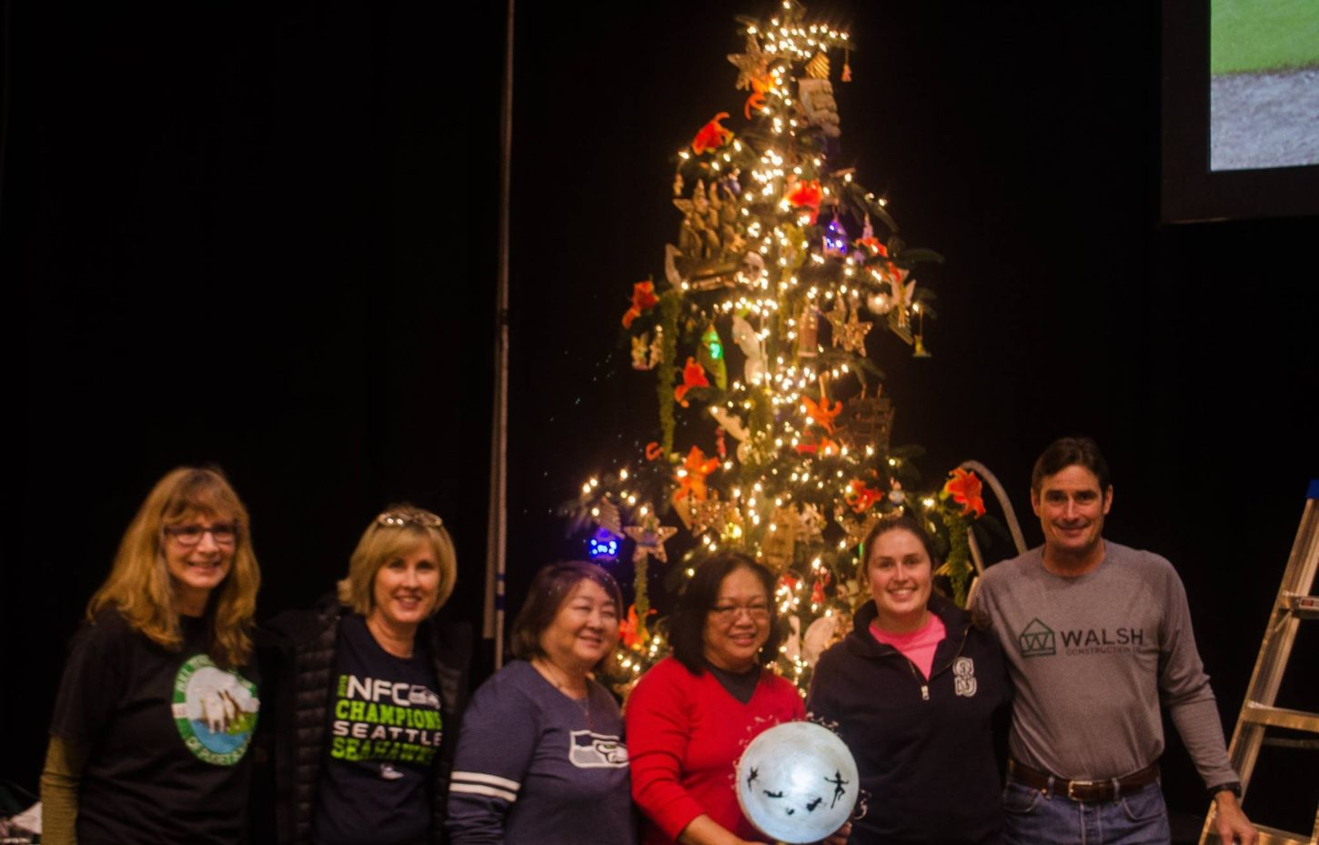 walsh sponsors a tree for providences o christmas trees event